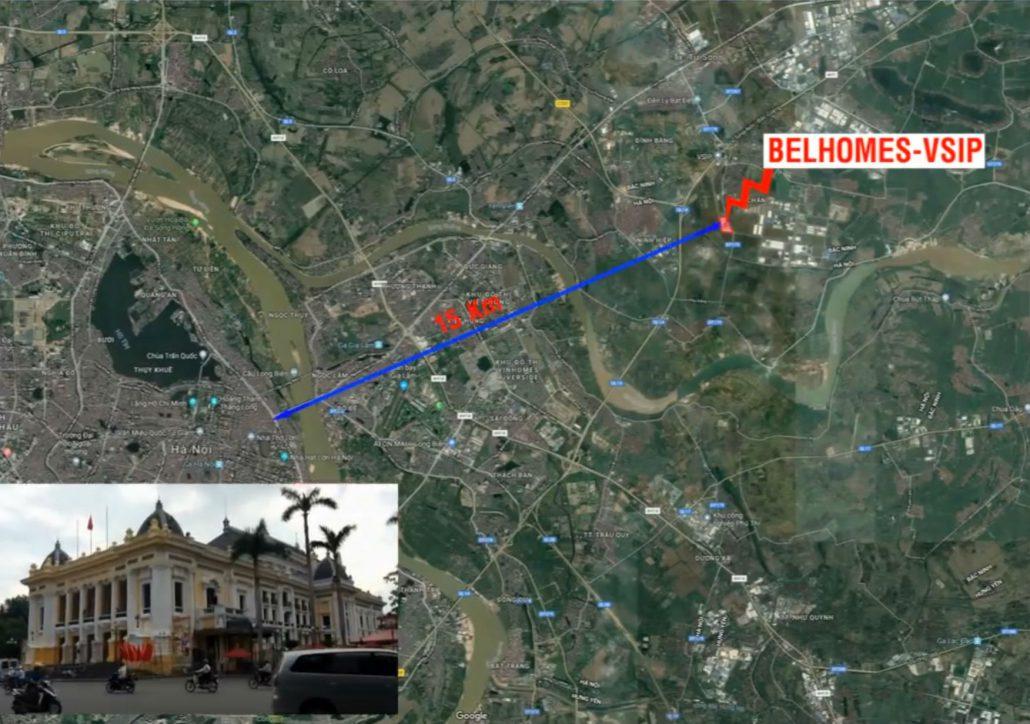 Belhomes Vsip kết nối với trung tâm Thủ Đô