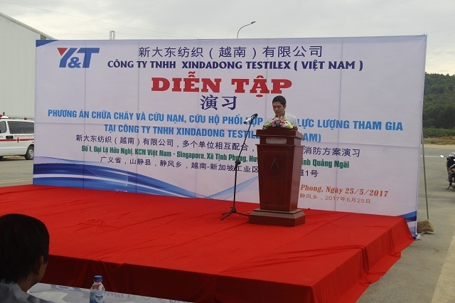 VSIP Quảng Ngãi tham gia diễn tập PCCC