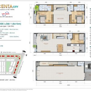 Thiết kế Shophouse Centa VSIP